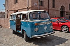 Vintage van Volkswagen Transporter Type 2 stock photos