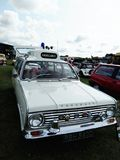 Vintage Vauxhall ambulance car. Displayed outdoor at Northumberland Wings & Wheels festival at Eshott Airfield north of Morpeth, England, taken on August 20 royalty free stock photo