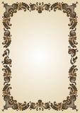 Vintage vazio do frame da flor ilustração do vetor