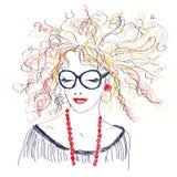 Vintage vector. Felt-tip pen illustration. Multicolor spring or summer pattern. Vintage vector stock illustration