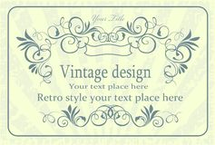 Vintage vector. Ornament element decorative vector nature stylisch abstract designe Royalty Free Stock Photos