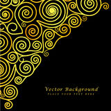 Vintage vector abstract background with golden Stock Photo