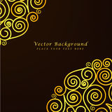Vintage vector abstract background with golden Royalty Free Stock Image