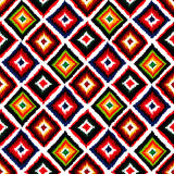 Vintage vector abstract seamless ikat pattern. Royalty Free Stock Photos