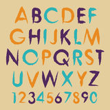 Vintage vector alphabet typography set with Stock Photos