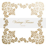 Vintage vector antique frame with floral ornament Stock Photo