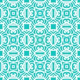Vintage vector art deco pattern in aqua blue. Vintage vector art deco pattern in tropical aqua blue color. Seamless texture for web; print; wallpaper; wedding Royalty Free Stock Images