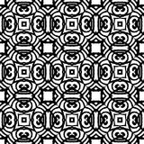 Vintage vector art deco pattern in black and white Stock Photo