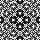 Vintage vector art deco pattern in black and white. Seamless texture for web; print; wallpaper; wedding invitation or website background; spring, summer or Royalty Free Stock Photo