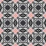 Vintage vector art deco pattern in dark colors Royalty Free Stock Photos