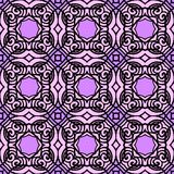 Vintage vector art deco pattern in purple. Vintage vector art deco pattern in black and purple. Seamless texture for web; print; wallpaper; luxury invitation stock illustration