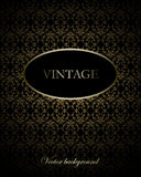 Vintage vector background. In black tonality Stock Images