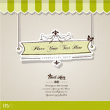 Vintage vector background. Stock Photography