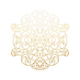 Vintage vector background with decorative floral elements. Royalty Free Stock Photo
