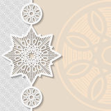 Vintage vector background, festive pattern embossing Royalty Free Stock Images