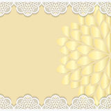 Vintage vector background, festive pattern embossing,  alace paper card. Floral ornament, indian ornament, template greetings, 3D, EPS10 Royalty Free Stock Images