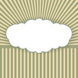 Vintage vector background with form of a cloud Stock Image