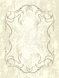 Vintage vector background in grunge style with decorative frame. Stock Image