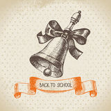 Vintage vector background with hand drawn back to Royalty Free Stock Photography