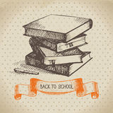 Vintage vector background with hand drawn back to Royalty Free Stock Images