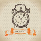 Vintage vector background with hand drawn back to Royalty Free Stock Photos