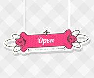 Vintage vector background with hanging sign Stock Photos