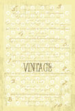 Vintage vector background with old paper Stock Photos