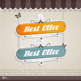 Vintage vector background with place for your text. Stock Photos