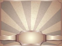 Vintage vector background, retro label Royalty Free Stock Photo