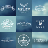 Vintage Vector Badges Royalty Free Stock Image