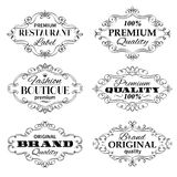 Vintage Vector Banners Labels Frames. Royalty Free Stock Photography