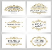 Vintage Vector Banners Labels Frames Stock Photography