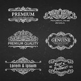 Vintage Vector Banners Labels Frames. Royalty Free Stock Image