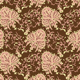 Vintage vector baroque seamless pattern. Royalty Free Stock Image