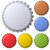 Vintage Vector Bottle Caps Royalty Free Stock Photo