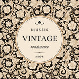 Vintage vector card in classical baroque style. Stock Image