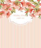 Vintage Vector Card with Watercolor flower frame Royalty Free Stock Photo