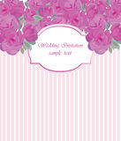 Vintage Vector Card with Watercolor Rose flowers Royalty Free Stock Image