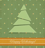 Vintage vector Christmas background Stock Image