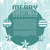 Vintage Vector Christmas Background Stock Photography