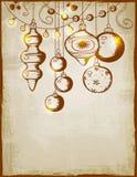 Vintage vector Christmas card Stock Photo