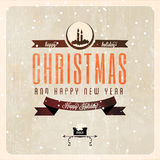 Vintage vector Christmas card Royalty Free Stock Image