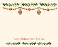 Vintage vector Christmas card Royalty Free Stock Images