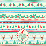 Vintage vector Christmas pattern Stock Images