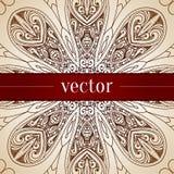 Vintage vector circle floral ornamental border. Stock Photo
