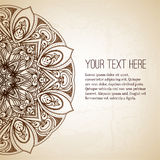 Vintage vector circle floral ornamental border. Royalty Free Stock Photography