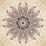 Vintage vector circle floral ornamental border. Royalty Free Stock Images