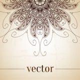Vintage vector circle floral ornamental border. Stock Photography