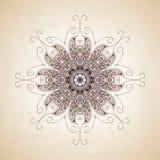 Vintage vector circle floral ornamental border. Stock Images