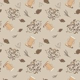 Vintage Vector Coffee Pattern Royalty Free Stock Photo